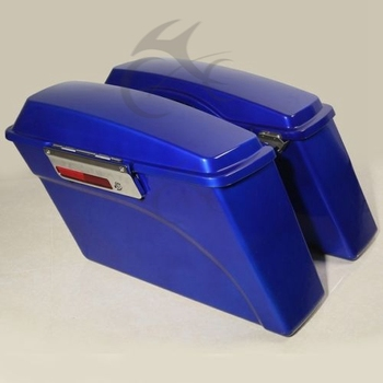 Motorcycle Hard Blue Saddlebags Saddle bags Trunk + Latch Keys For Harley Electra Glide DYNA 1994-2013 motorbike accessories