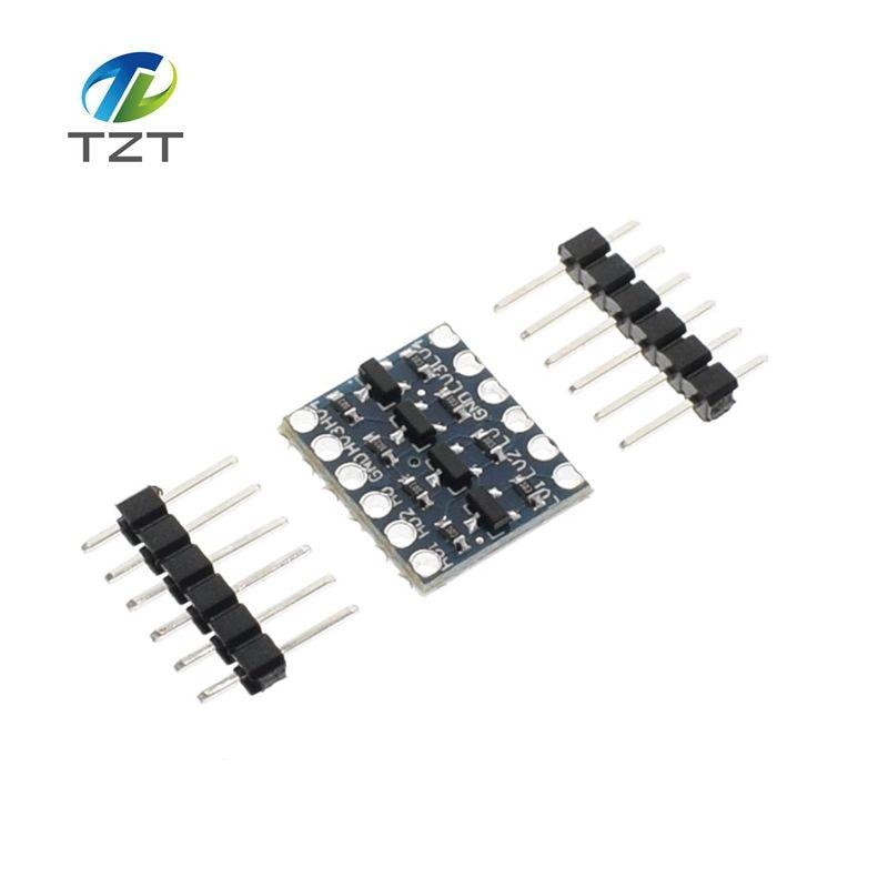10pcs 4 channel iic i2c logic level converter bi directional module 5v to 3 3v for arduino