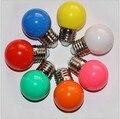 6 Pçs/lote RGB Diodo Emissor de Luz E27 85-265 V 3 W colorido LEVOU Golf Luz Bola Lâmpada Globo Lampara para o casamento do feriado do natal pub