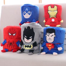 Super hero superman Spiderman Avengers Plush Flannel Blanket Throw for Boys on Bed Sofa Couch plush baby toy Kids friends Gift(China)