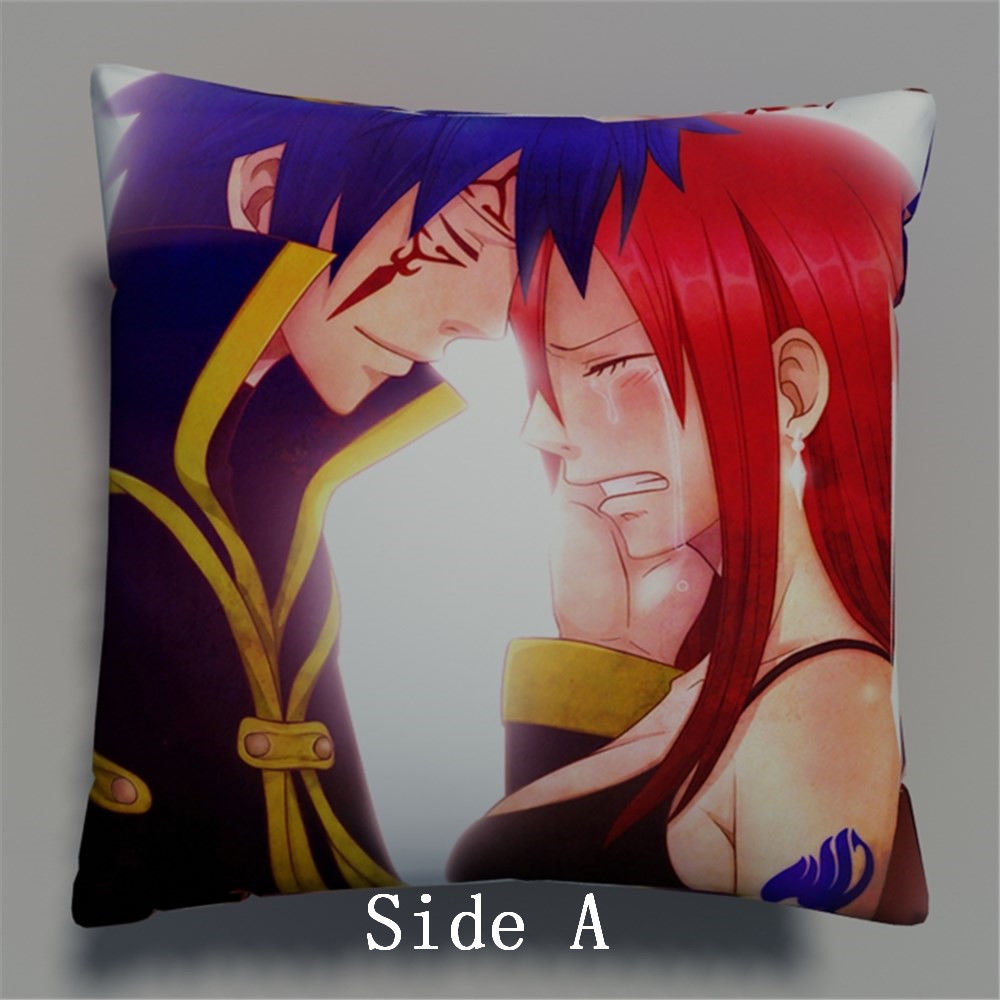 Fairy Tail Anime Two Side Pillowcases Hugging Pillow Cushion Case Cover Otaku Cosplay Gift New 638