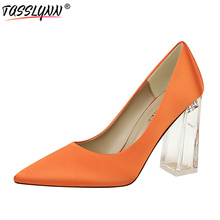 цена на TASSLYNN 2019 Multicolor Women Pumps Sexy Summer Slip on Women Shoes High Heel Lady Pointed Toe Thin Heels Pumps Big Size 34-43