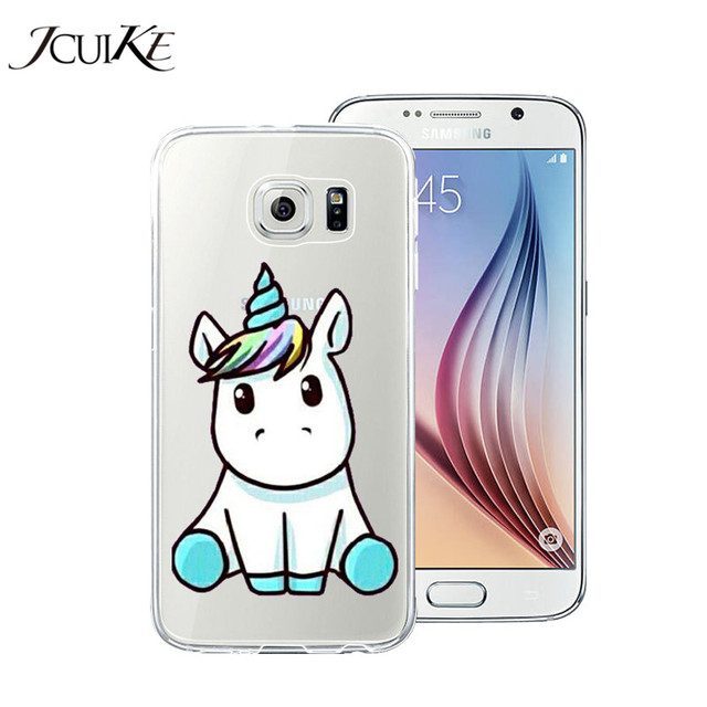 pretty nice 8023c 0f4c9 US $1.95 |Silicone Phone Case For Samsung Galaxy S6 G9200 Case Cute Giraffe  Pig Unicorn For Samsung Galaxy S6 Edge Back Cover Soft TPU-in Half-wrapped  ...