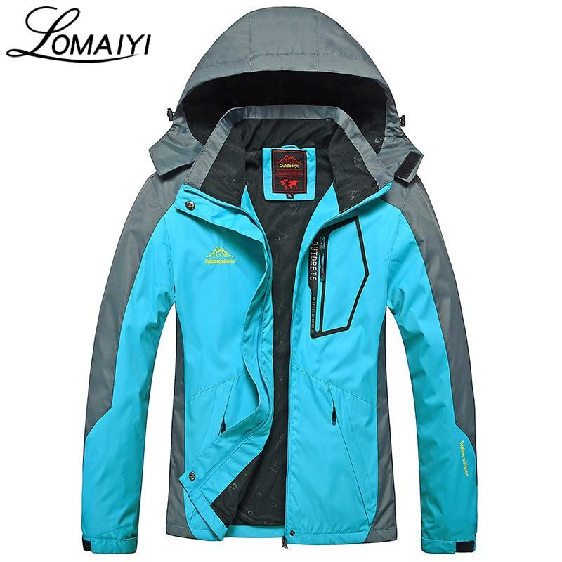 LOMAIYI Warm Womens Windbreaker 2017 Autumn Womens Basic Jackets Women Waterproof Coats  ...