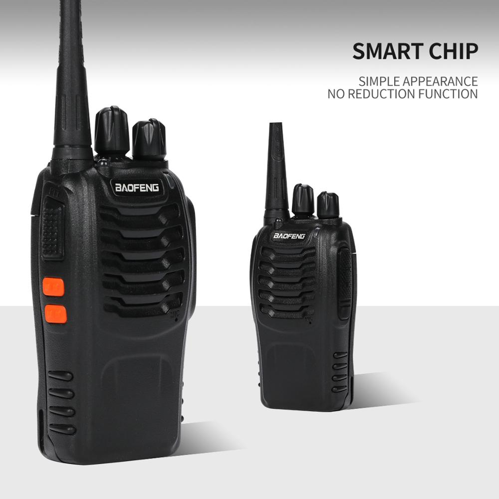 Baofeng BF-888S Walkie Talkie 5W Handheld 888s UHF 400-470MHz 16CH Two-way Portable Radio Transceiver Interphone With Earpiece