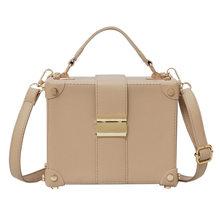 e4198d187 Caixa de Forma das Mulheres da marca Bolsa de Ombro Bolsa Estilo Casual Saco  Pequeno Quadrado