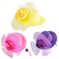 1-piece-gauze-flower-multicolor-noble-gentleman-pets-formal-hat-dogs-and-cats-party-decorative-hats