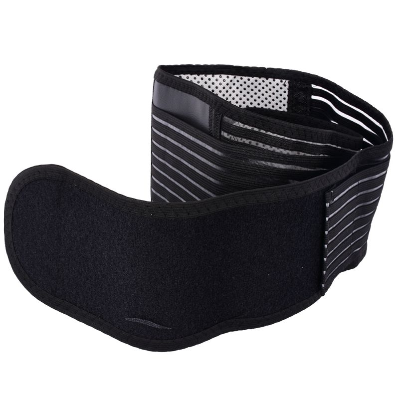 Men Sport Tourmaline Self-heating Magnetic Therapy Waist Support Sport Waistband Fitness Breathable Brace Lower Back Safety Belt