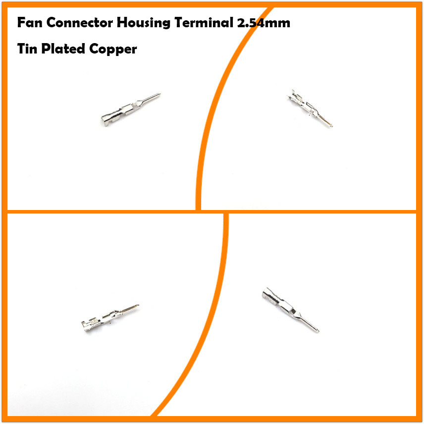 Fan 3Pin 4Pin 2.54mm Connector Housing Male Pin Crimp Terminal