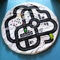WISHTIME Crianças Tapetes de Jogo Do Bebê Esteira do Jogo Rastejando Cobertor Rodada Chilren Jogar Jogos de Corrida do Tapete Tapete Quarto Infantil 100% Algodão 95 cm