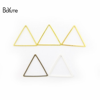 BoYuTe Metal Brass Geometric Triangle Connector Charms 4 Colors DIY Jewelry Findings Components 3