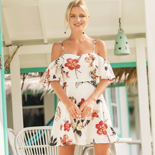 2018 Mini Beach Dress Summer Strapless Maxi Dress Sexy Strap Elegant Floral Vestido Casual Vestido Ladies Dresses Butterfly
