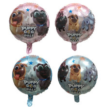 50 Pcs  Puppy dog pals Helium Balloons brothers Bingo and Rolly Globos Birthday Party Childrens Day Foil Ballon Decorations
