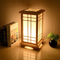 Tatami LED Wooden Lamp Stand Lighting Floor Creative Through Carved Floor Lamp Simple Stand Light Fixture Japanese Floor Lamps