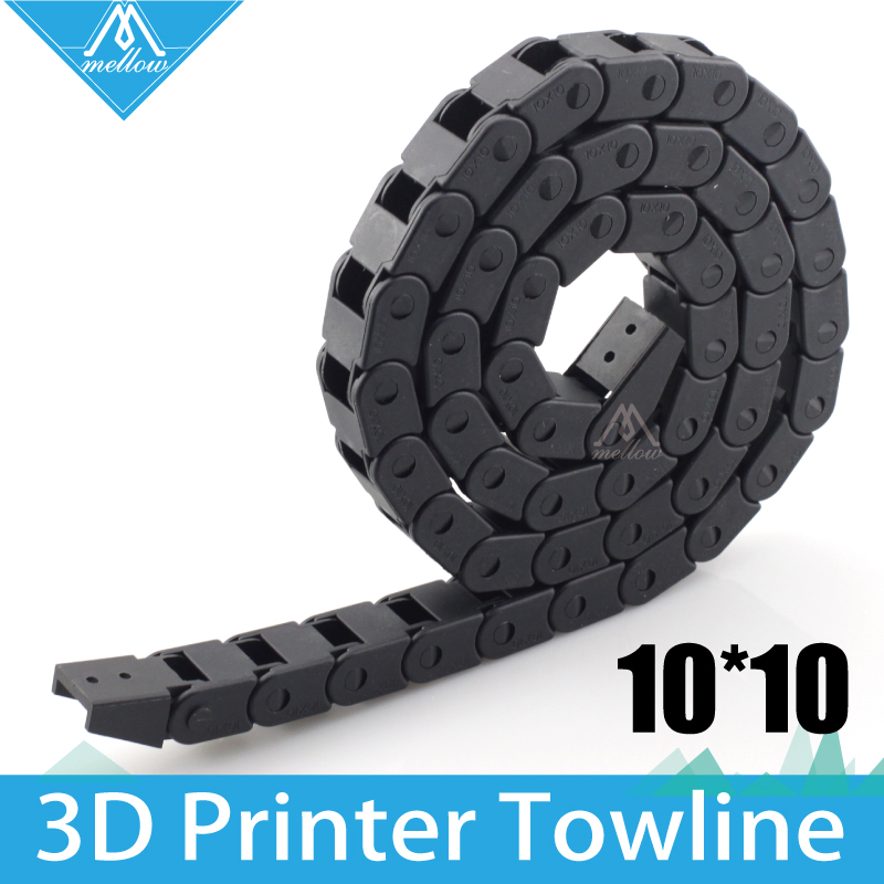 HOT! Best !!! 10 x 10mm L1000mm Cable Drag Chain Wire Carrier with end connectors for 3D Printer Too