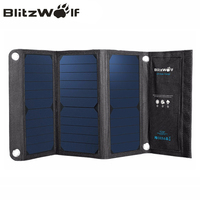 BlitzWolf 20W 3A Foldable Portable Solar Power Bank Powerbank Cell USB Solar Panel Charger With Power3S