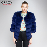 Women 2018 Winter Plus Size 6XL 5XL 4XL Fashion Brand Fake Fox Fur Jacket Furry Luxury Stitching Thicker Warm Faux Fur Coats