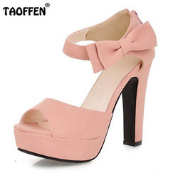 New summer peep toe ankle strap orange sweet thick high heel sandals platform lady women shoes.jpg 250x250