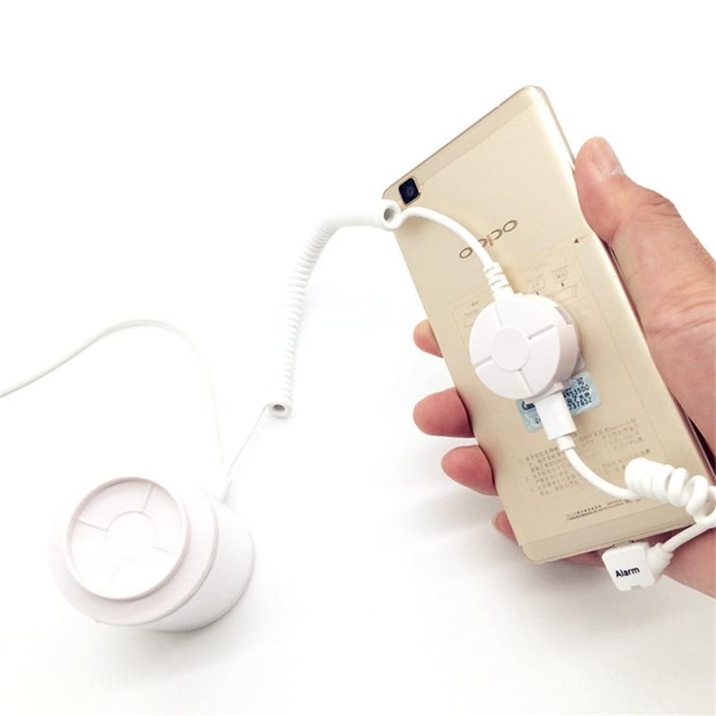 (6 τεμάχια / παρτίδα) Υποστήριξη αντικλεπτικής οθόνης ασφαλείας για κινητά τηλέφωνα με λειτουργία συναγερμού και φόρτισης για την έκθεση κινητών καταστημάτων λιανικής πώλησης
