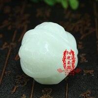 White jade walnut fitness ball jade handlebar