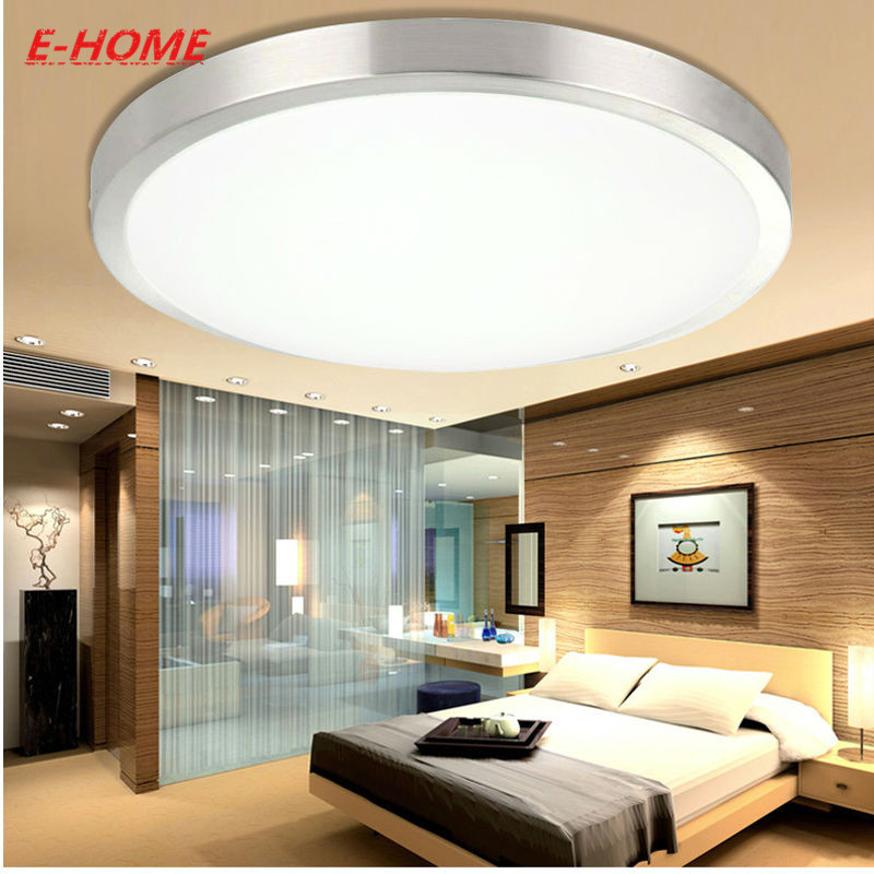 Led ceiling lamp circular aluminum acrylic contracted and