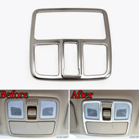 Stainless Interior Front Roof Reading Light Lamp Cover Trim For Ix35 2010 2014
