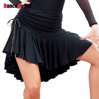 2016 Sex Women Lady Latin Skirt Black Purple Strapt Salsa Tango Rumba Samba Paso Ballroom Dance