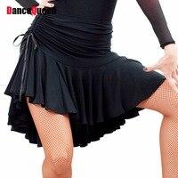 2017 seks kadınlar lady latin etek siyah/mor strapt salsa tango rumba samba paso balo salonu dans dress kare kalça hop giysileri
