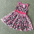 ,retail little Girl's summer Dresses,hello kitty dress in white and black striped design, cute cat dress 21
