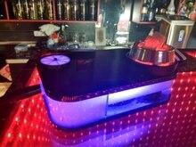 Арабский кальян набор со светодио дный лампой портативный квадратная коробка акриловая модный кальян Кальян включает чаша для кальяна силиконовые трубы подарки