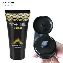 Original Titan Gel Gold Russia Penis Enlargement Cream Retarder Intim Gel Help Male Potency Penis Growth Delay Cream sex lube(China)