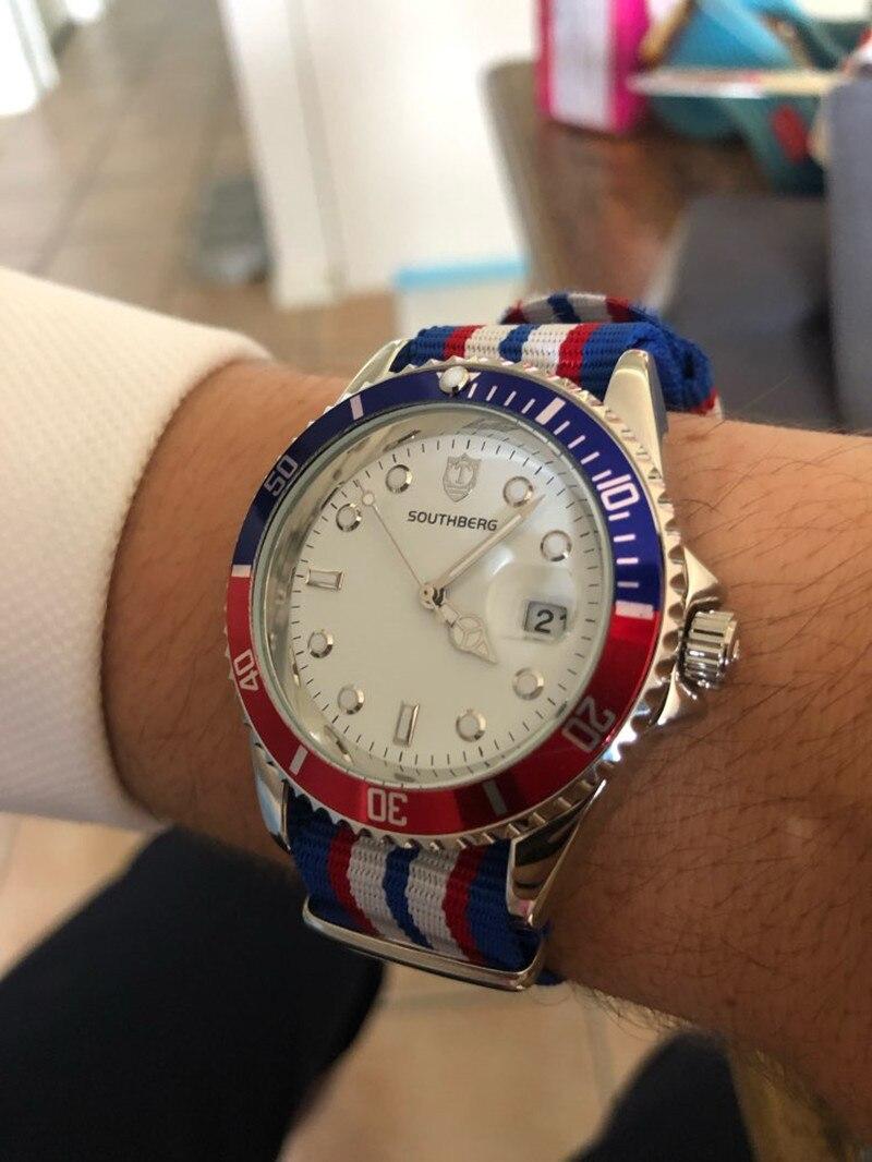 2017 Southberg Uhr Männer Rolle Uhren Luxus Berühmte Armbanduhr Männlichen Uhr Gmt Quarz Armbanduhr Kalender Relogio Masculino Um Sowohl Die QualitäT Der ZäHigkeit Als Auch Der HäRte Zu Haben