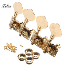 4PCS Golden Chrome Bass Guitar String Tuning Open Type Turning Pegs Keys Buttons Tuners Machine Head Knobs