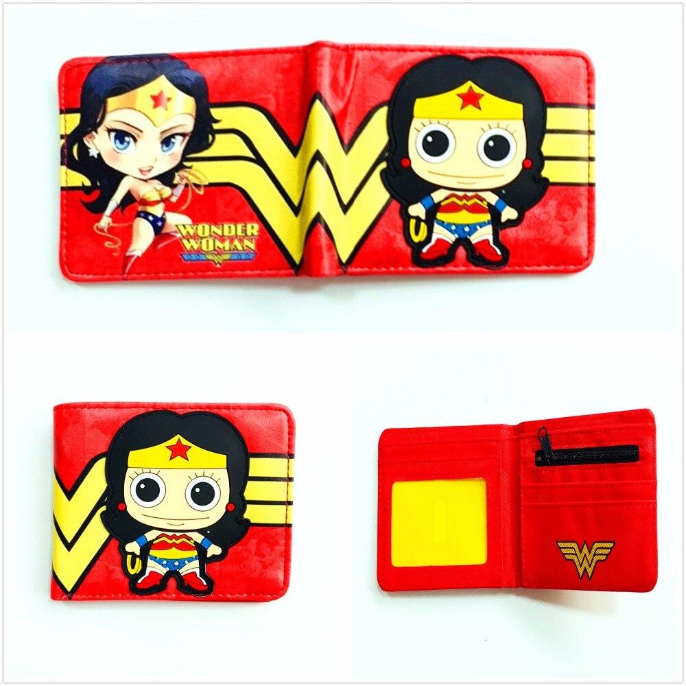 Marvel Comics кошелек Wonder Woman кошелек супер герой с коротким PU кожаный кошелек для подростка прекрасный кошелек W1089Q