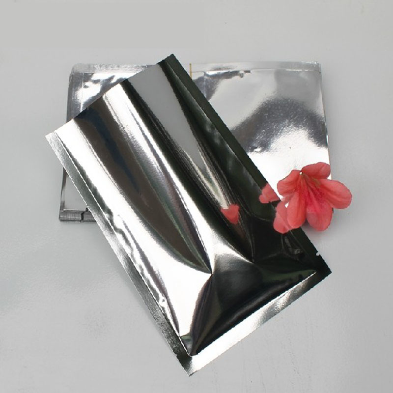 100-1000pcs/lots Silver Open Top Plating Aluminized Bag Heat Seal Food Packaging Vacuum Bag Aluminizing Foil Plastic Bag Pouch