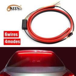 OKEEN 12V Red Unverisal LED Car trzecie światło hamowania elastyczne LED wysokie dodatkowe światło Stop z funkcjami włączania sygnału