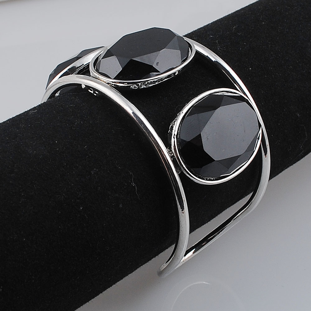 Big Cuff Bracelets For Women New Trendy Plated Round Jewelry Hollow Design Wide Bangles Bracelets 5