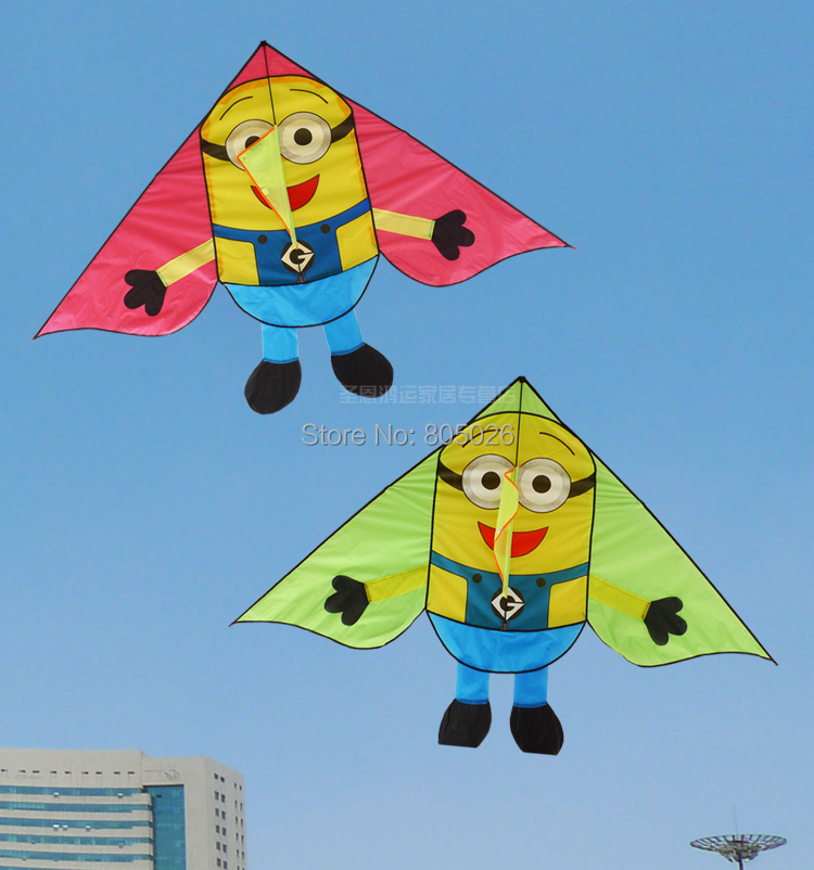 only 9 9 free shipping high quality lovwly Minions kite children kites with handle line outdoor