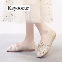 מותג Ksyoocur 2020 חדש גבירותיי נעליים שטוחות מזדמנים נשים נעליים נוח בוהן עגול שטוח נעלי אביב/קיץ נשים נעליים x03