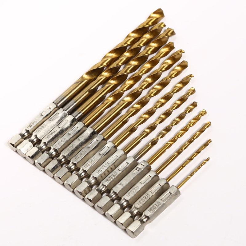 13 sztuk / zestaw Stalowy chwyt sześciokątny 1,5 - 6,5 mm Metalowe - Wiertło - Zdjęcie 2