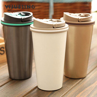 500ml 304 Stainless Steel Double Wall Reinforced Thermos With Anti Split Lid Vacuum Flask Insulated Tumbler