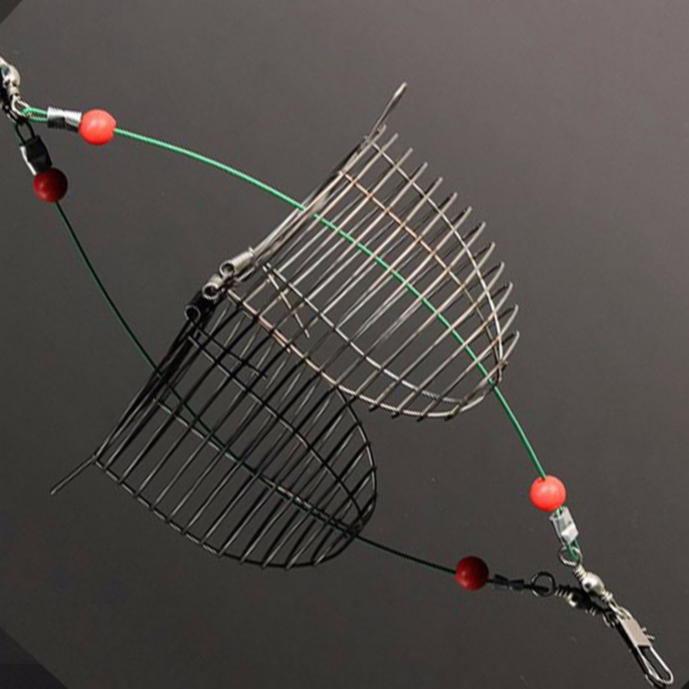 Free shipping 1PCS fishing accessories Stainless Steel Cage Fishing Trap Basket Feeder Fish Bait Lure Catch Holder Hot selling 1pcs practical lure cage fishing tackle carp pellet feeder bait cage lures pit device with lead fishing tools