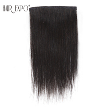 6inch Short straight Clip in Synthetic Hair Extensions One Piece False Hair Hairpiece for Women Hair Expo City