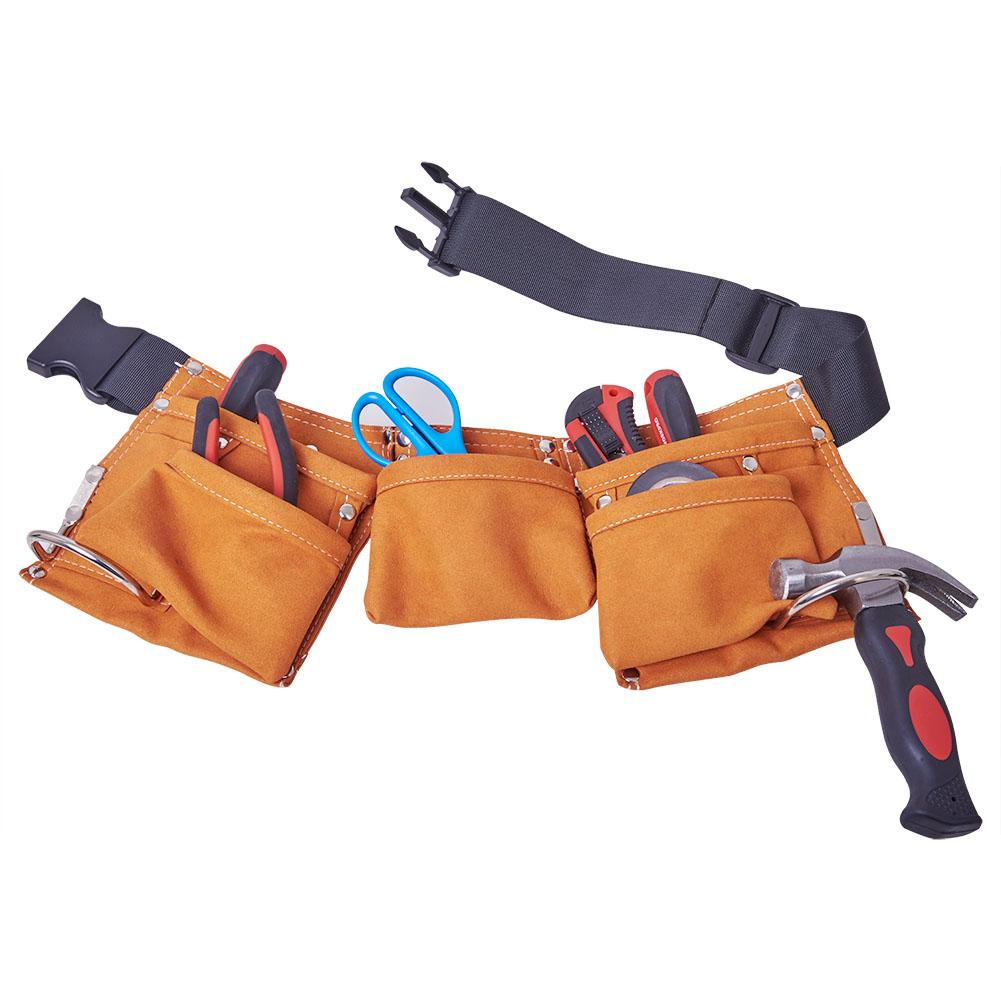 Latest Collection Of Adjustable Belt Real Leather Tool Bag Garden Work Tools Bag For Children Adults 1pc J3 Tools Tool Organizers