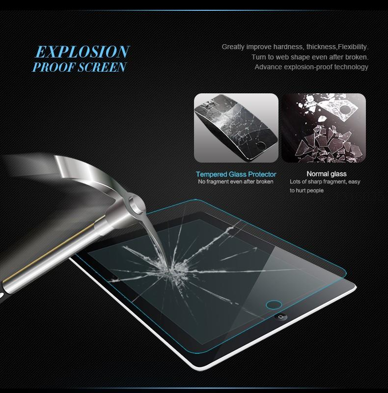 BINFUL 0 3mm 9H Tempered Glass For iPad 5 6 iPad pro 9 7 Screen Protector