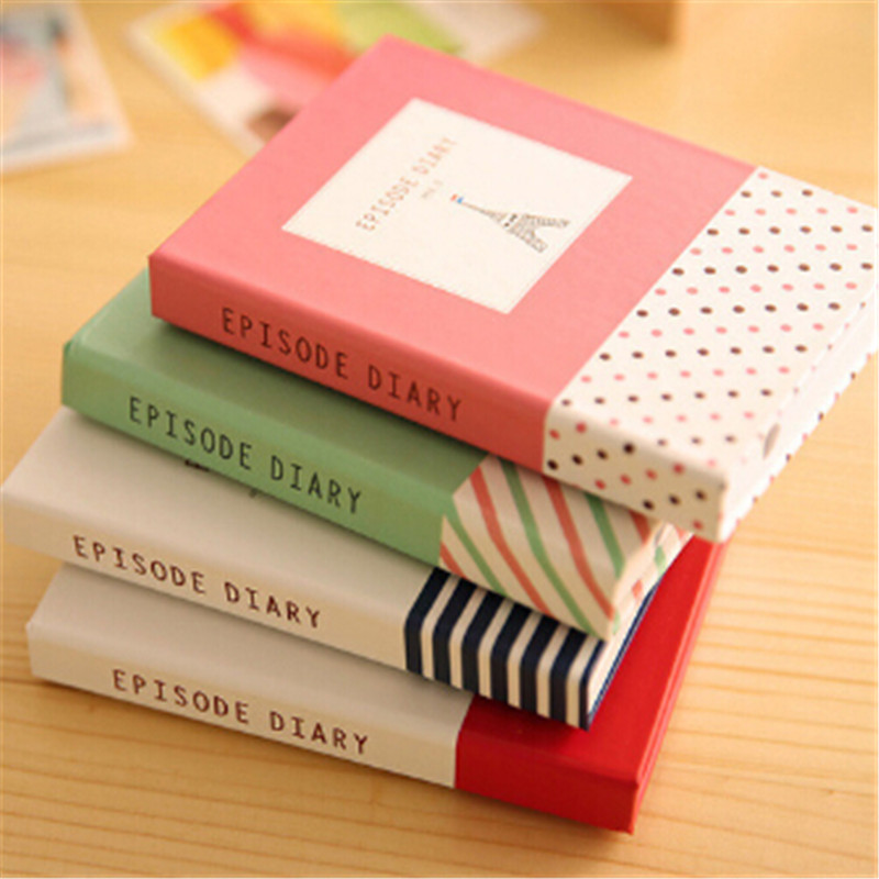 Hardcover Mini Notebook Portable Diary Book Memo Pad Sticky Notes With Ballpoint Pen Creative Writing Notebooks Stationery