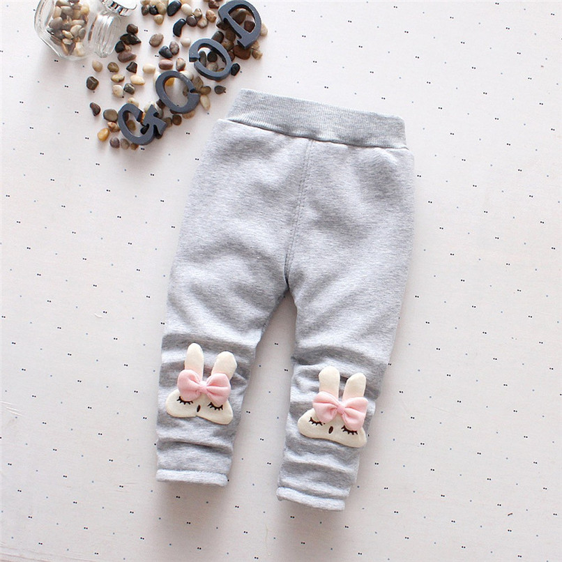 Winter Girls Pants Toddler Infant Baby Girl Cartoon Rabbit Velvet Leggings Trousers Pants Kids Girls Clothes roupa menina S21#F (5)