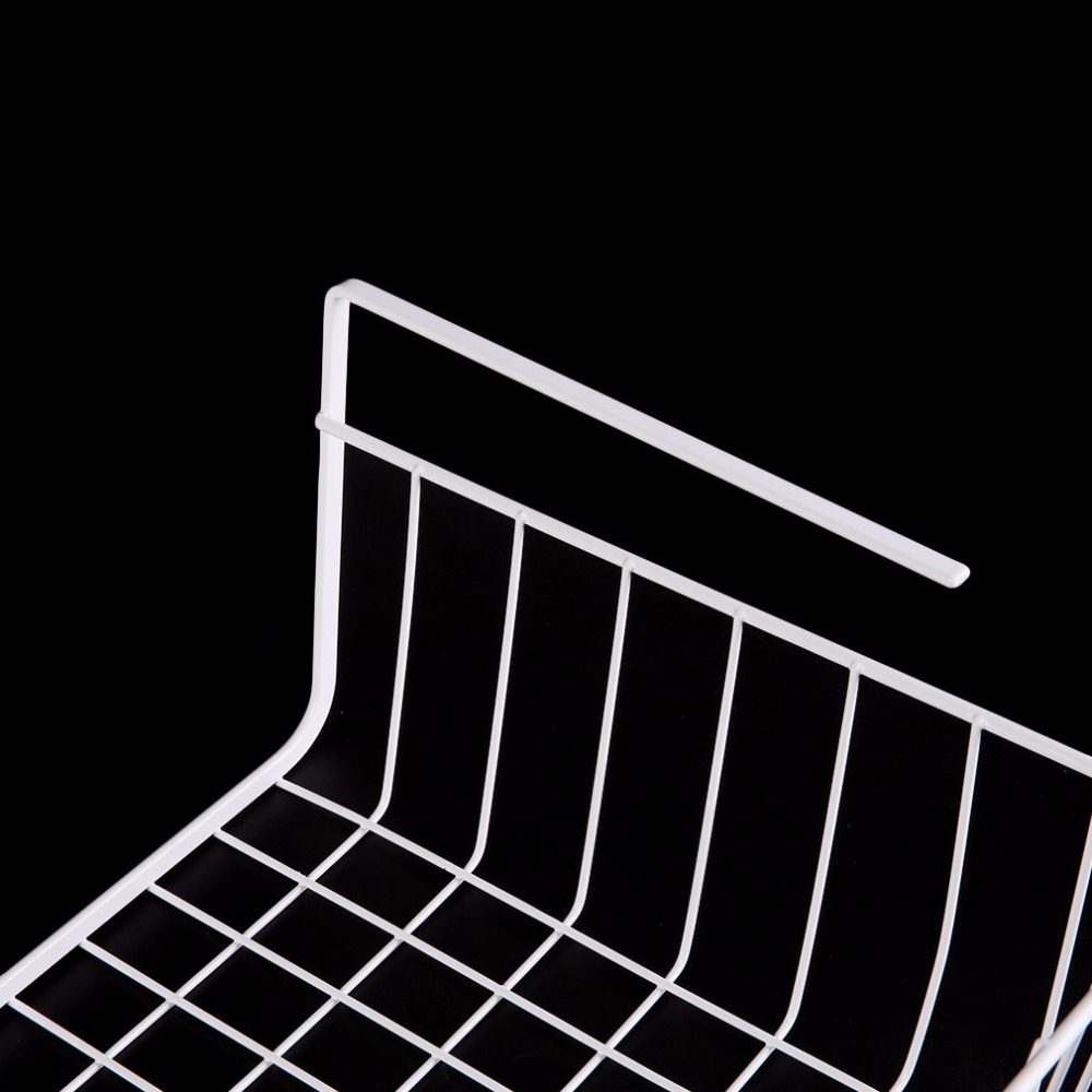 OUTAD White/Silver Lightweight and Durable Design Suoerior Kitchen Under Shelf Storage Basket Lightweight Metal Organiser Rack