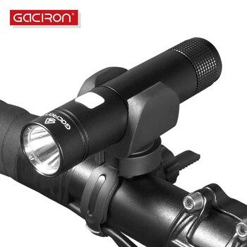 Gaciron Sepeda Aksesoris Sepeda Obor Lampu Tahan Air USB Isi Ulang Stang LED Depan Lampu Senter 650 Lumen
