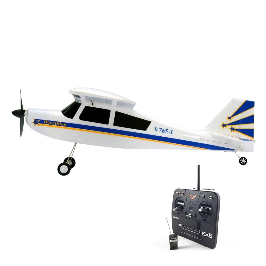 Volantex EPO Decathlon RC RTF Plane Model W/ Brushless Motor Servo ESC Battery volantex super decathlon rc rtf plane model w brushless motor servo esc battery